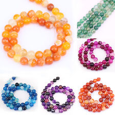 4MM,6MM,8MM,10MM,12MM Agate Stone 15 Inch Loose Spacer Beads Bracelet Accessory