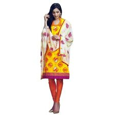 Ready To Wear Cotton Printed Salwar Kameez with Embroidery Dupatta India-Sada-02