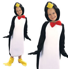 Childrens Kids Penguin Fancy Dress Costume Pingu Christmas Outfit 2-10 Yrs