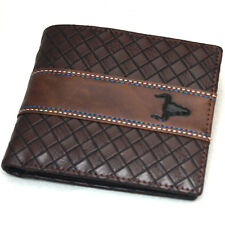 Mens Wallets Bi-fold Credit Card Purse Zipper Pocket ID Photo Window F7003B