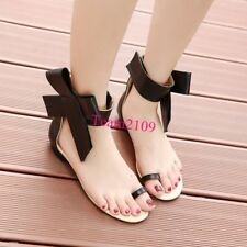 Roman Fashion Gladiator Womens Ankle Bow Ankle Strap Summer Sandals Shoes