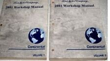 2001 LINCOLN CONTINENTAL Service Shop Repair Workshop Manual Set OEM 01 Factory
