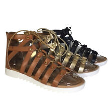 BAMBOO ROCKET-06S Women Gladiator Style Lace Up Strappy Calf Sandals New In Box