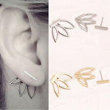 Fashion New Women Hollow Out Flower Stud Earrings Simple Metal Ear Stud Jewelry