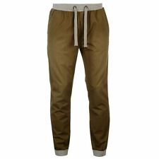 SoulCal Mens Ribbed Waistband Chinos Trousers Elasticated Ankle Pants