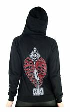 TOO FAST KEYHEART PSYCHOBILLY TATTOO  GOTHIC PUNK EMO HOODIE JACKET GOTH SHIRT