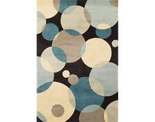 Momeni New Wave 37 Teal Area Rug Modern Contemporary Wool All Sizes
