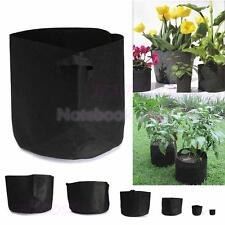 1-10 Gallon Fabric Pot Plant Pouch Root Grow Bag Round Planter Flower Containers