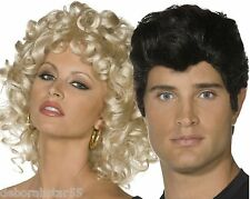 Smiffys Officially Licensed Film Grease Sandy or Danny Wig Fancy Dress Costume