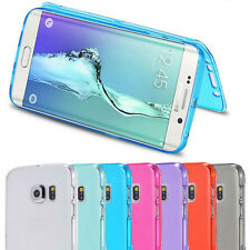 Transparent Full Body Protective Soft TPU Flip Case for Samsung Galaxy S7 / Edge
