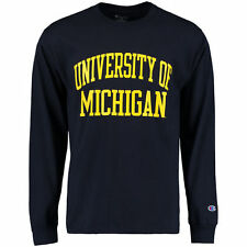 Michigan Wolverines Champion University Long Sleeve T-Shirt - Navy - NCAA