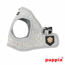 Dog Puppy Harness Soft Vest- Puppia - Modern Dotty - Grey - Choose Size