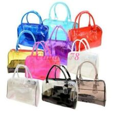 New Womens Sweet Handbag Jelly Transparent Beach Candy Shoulder Bags 10 Colors