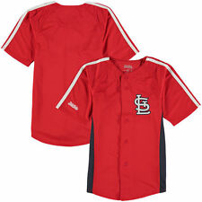 St. Louis Cardinals Stitches Youth Chin Music Fashion Button Jersey - Red - MLB