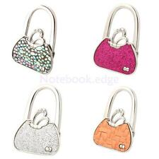 Folding Rhinestone Purse Tote Bag Hanger Handbag Table Desk Hooks Holder Safer