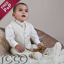 Baby Boys Ivory Waistcoat Suit Wedding Pageboy Christening Communion Suits