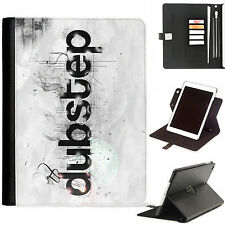 Dubstep Music Luxury Apple ipad 360 swivel leather case cover with card slots