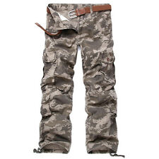 Men's Combat ARMY Pants Military Camouflage Cargo Cotton Camo Trousers