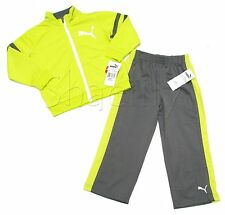 Puma Baby and Toddler Boys Yellow and Gray Track Suit Jacket and Pants Set