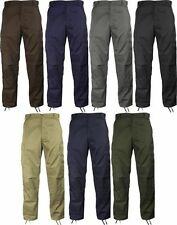 NEW! Rothco Military Fatigue Solid BDU Cargo Pants Uniform Comfortable Utility