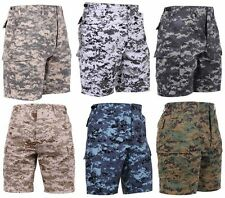 NEW! Rothco Digital Camouflage Military BDU Cargo Shorts Camo Utility 6 Pockets