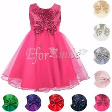 Flower Girl Dress Kids Baby Princess Party Wedding Formal Bridesmaid Pageant