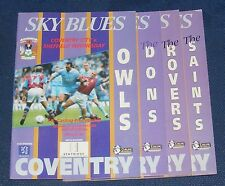 COVENTRY CITY HOME PROGRAMMES 1995-1996
