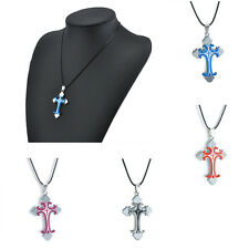 Fashion Unisex Stainless Steel Cross Necklace Pendant Chain Jewelry Gifts