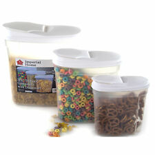 Plastic Food Storage Container Cereal Dispenser Set (3 Piece)