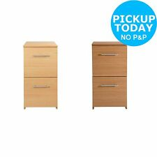 2 Drawer Filing Cabinet - Choice of Beech/Oak Effect-From the Argos Shop on ebay