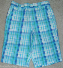 NWT GIRLS CARTER'S BLUE PLAID PANTS SIZE 12 & 18 MONTHS