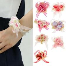 50pcs Wrist Corsage Bracelet Flowers wedding Bridal Prom Party Sweet 16 Events