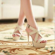New Womens New Fashion Hot High Heel Platform Elegant Sexy Sandals Shoes