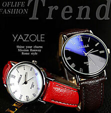 Stylish Men's Quartz Wrist Watch Leather Stainless Steel Fashion Choice For Date
