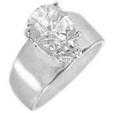 Silver Rhodium Plated Solitaire Engagement Ring Pear Cubic Zirconia Size 11 12