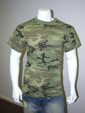 Mens Army Outdoor Hunting/Gym/Training T-SHIRT Tee -Woodland Camo- S,M,L,XL,XXL