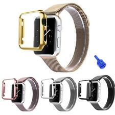 Stainless Steel Strap Watch Band+Adapter+Case Cover for Apple Watch 38/42mm