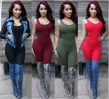 Sexy Womens Sleeveless Bodycon Jumpsuit Romper Club Backless Playsuit Long Pants