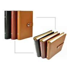 A5 Loose Leaf PU Leather Notebook Diary Ruled Planner Journal Organiser Note #B9