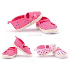 Toddler Baby Girl Princess Flower Cute Polka Dot Soft Sole Crib Shoes Prewalker