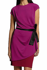 Narciso Rodriguez for DesigNation Womens Muberry Purple Colorblock Dress New