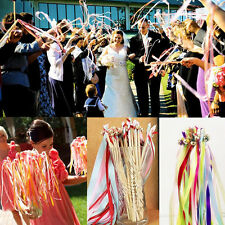 Hot 1Pc Twirling Streamers Party Wedding Favor Ribbon Sticks/Wands With Bells