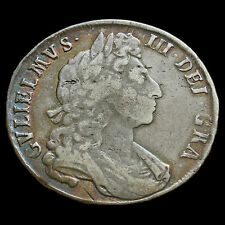 1697 William III Early Milled Silver Half Crown