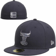 Chicago Bulls New Era Hardwood Classics Teamtallic Fitted Hat - Gray - NBA