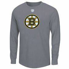 Boston Bruins Old Time Hockey Briggs Thermal Long Sleeve T-Shirt - Charcoal