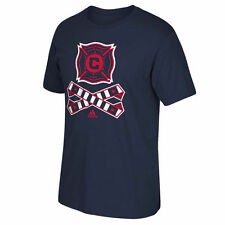 Chicago Fire SC adidas Crossed Up T-Shirt - Navy Blue