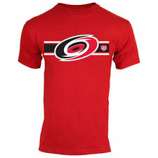 Carolina Hurricanes Old Time Hockey Striped Logo T-Shirt - Red - NHL