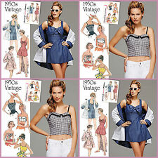 Retro Vintage 1950s Simplicity Sewing Pattern Misses Summmer Rockabilly New UPIC