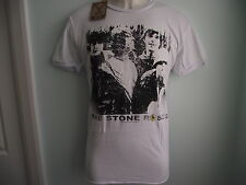 *NEW* AMPLIFIED THE STONE ROSES BAND MEMBERS B+W IMAGE WHITE MENS T SHIRT SIZE M