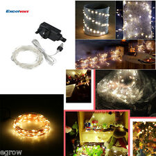 100 LED 10M String Fairy Lights Xmas Christmas Tree Wedding Party Garden Decor
